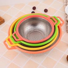 Mesh Food Basket Bowl for kitchen Washing Rinsing Draining Pasta fruit vegetables Colander Stainless Steel Strainer Washer