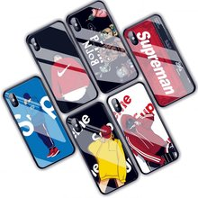 Cool fashion smartphone accessories 2019 custom phone skin full protective tempered glass tpu mobile phone case cover for iphone