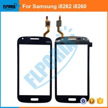 For Samsung Galaxy Core GT-i8262 GT-i8260 i8262 i8262D i8260 8260 Touch Screen Digitizer Panel Front Glass With Flex Cable