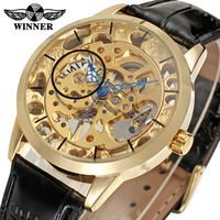 Discount Charming Designer Skeleton Leather Band Mens Watches For Sale T-winner