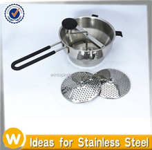 Stainless Steel Manual Food Vegetable Mill With 3 Discs Blades