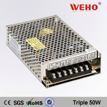 HOT SELL!! 50W Triple output switching power supply led power supply 5v