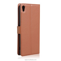 2017 New PU Leather Magnetic Folded Flip Wallet Card Holder Phone Case Cover for sony Xperia XA1
