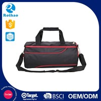 Best Selling Supplier Grab Your Own Design Customized Logo Vintage Black And Red Duffle Bags