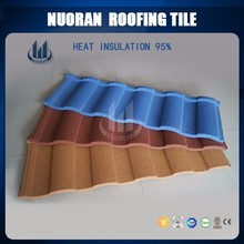 Nuoran double color Roman stone coated steel roof tiles for building roof construction