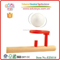 Cheap promotional wooden toys supplier floating ball game