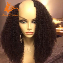"New Style Afro Curly Right Side U Part Wig Unprocessed Virgin Brazilian Human Hair Glueless Upart Wigs For Blace Women 10""-26"""