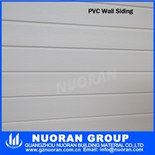 Green and white color in stock PVC vinyl siding for outdoor walls