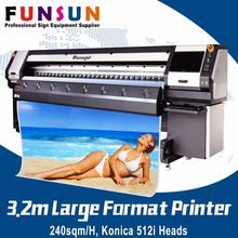 Funsunjet FS-3208K flex printing machine with konica head flex banner printer