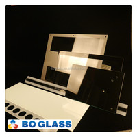 Customer lighting appliance extra white floated glass panel with high quality silkscreen