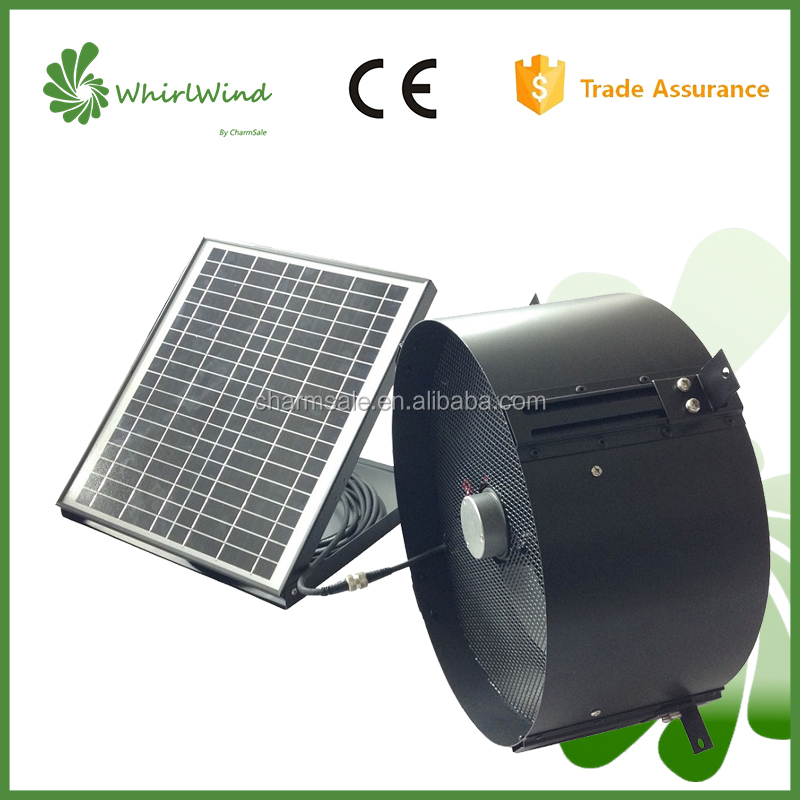CharmSale Whirlwind energy saving 12W 12inch solar roof exhaust fan