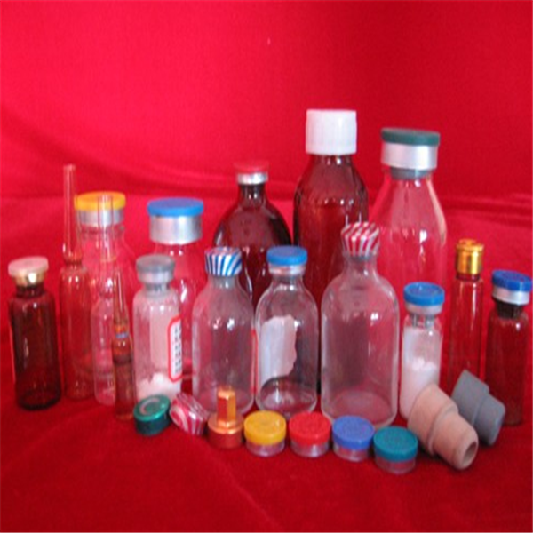 Screw cap clear vitamin glass medicine bottle for drugs