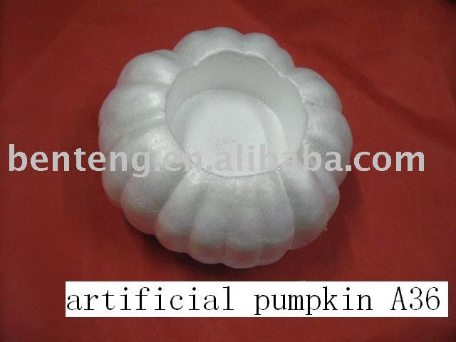2013 promotional decorative halloween plastic white pumpkins