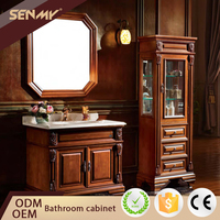 Low Price Designs Country Style Small Bedroom Bathroom Mirrored Corner Cabinet