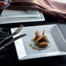 Durable Square plate with Magnesia Porcelain for Restaurant and Buffet