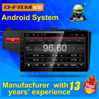 2 din android autoradio player with gps navigation for honda fit, car multimedia system from Shenzhen D-film