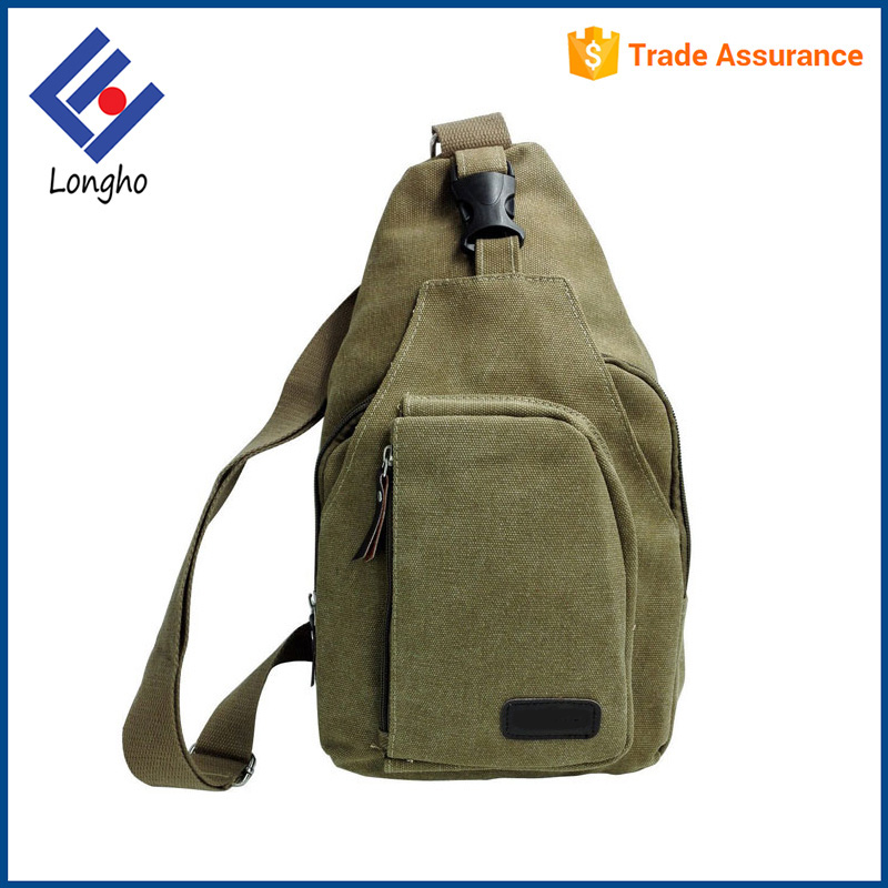 Hot trends PU zip puller & top buckle chest sling shoulder strap bag with customized logo