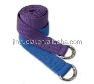 Hot selling cotton/polyester yoga straps, fitness yoga band