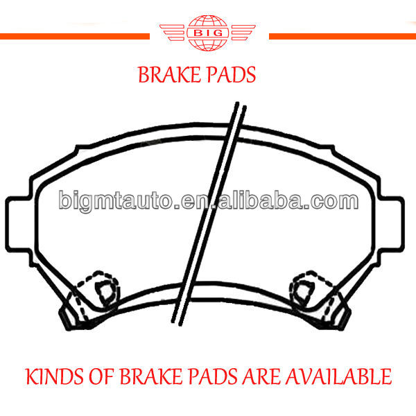 car brake pad manufactured for installing on front axle of the PONTIAC TRANS SPORT