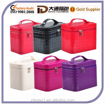 Professional Cosmetics Wholesale Lady Fashion Leather Vanity Bag/Case