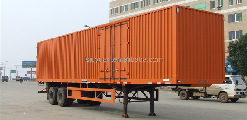 van semi trailer / caravan mover / steel sheet van trailer for sale