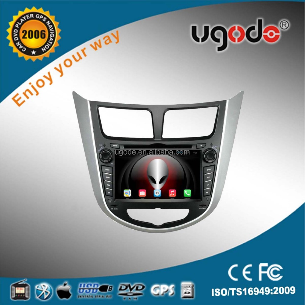 ugode HD touch screen car dvd for Verna car dvd player with 3G wifi
