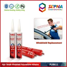 Chemical rubber/Polyurethane Sealant for AutoGlass bonding performance much better