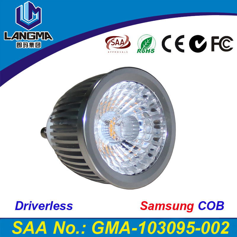 LED GU10 COB spot lamp dimmable 2700K 3000K Warm White 6W bulb light replace Halogen lamp energy saving lamp spotlight