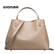 Pure Cow Hide Leather Single Handle Tote Handbags