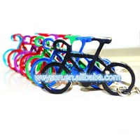 bike bicycle shaped opener keychains,anodized aluminum beer wine keyring opener,bottle opener DHL Freeshipping