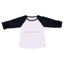 Howell popular in usa kids long sleeves plain color ruffle raglan t shirt