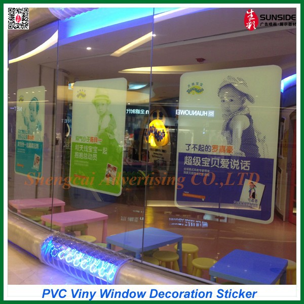 Custom printed vinyl sticker/ adhesive car window decal/removable vinyl window decals