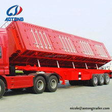 Africa Standard 2 Axle 40 tons Hydraulic Cylinder Tripping Semi Trailer/Dump Truck For Sale