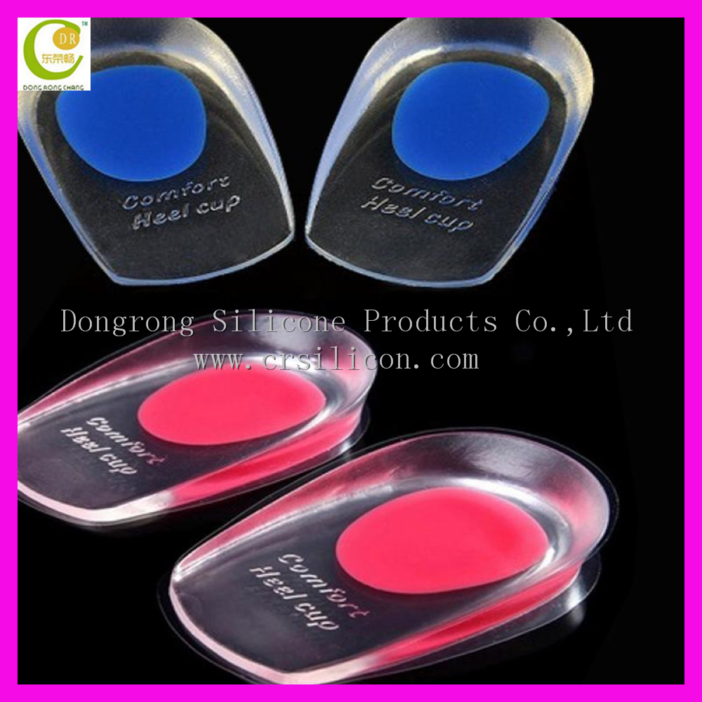 silicone height increase insole gel pad/foot pain relief heel cushion/nature silicone cushioning heel cups