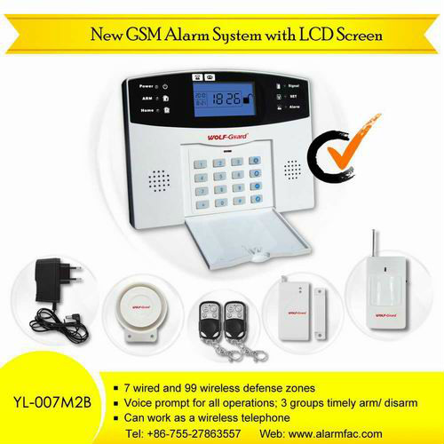 Home alarm system for building house estate security 007M2B