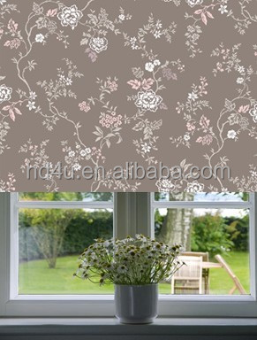 Printed/Digital printed flower design roller blind curtain blind wall paper