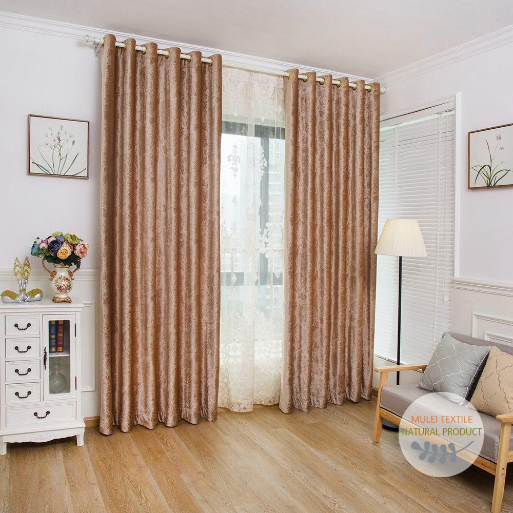New modern design embossing curtians velvet living room blackout church window curtains and drapes