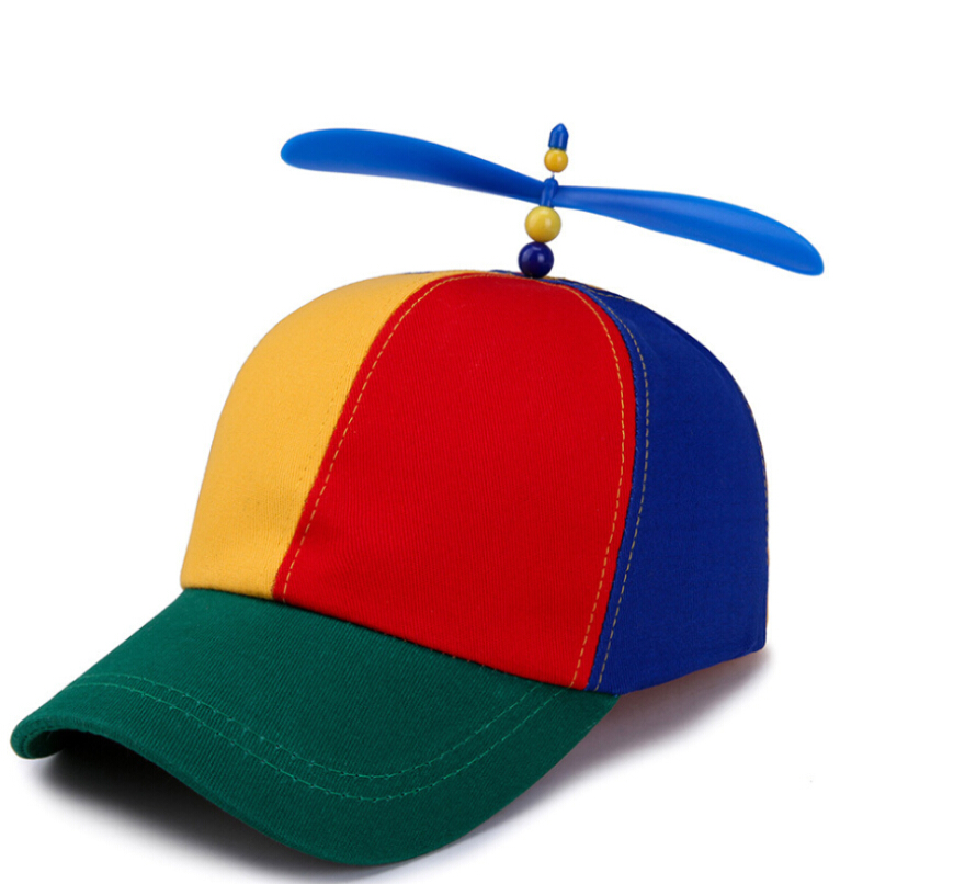 Propeller <strong>Hat</strong> Colorful Patchwork custom design cotton Funny Baseball <strong>Hats</strong>