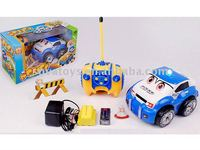 stunt cartoon R/C police car toy