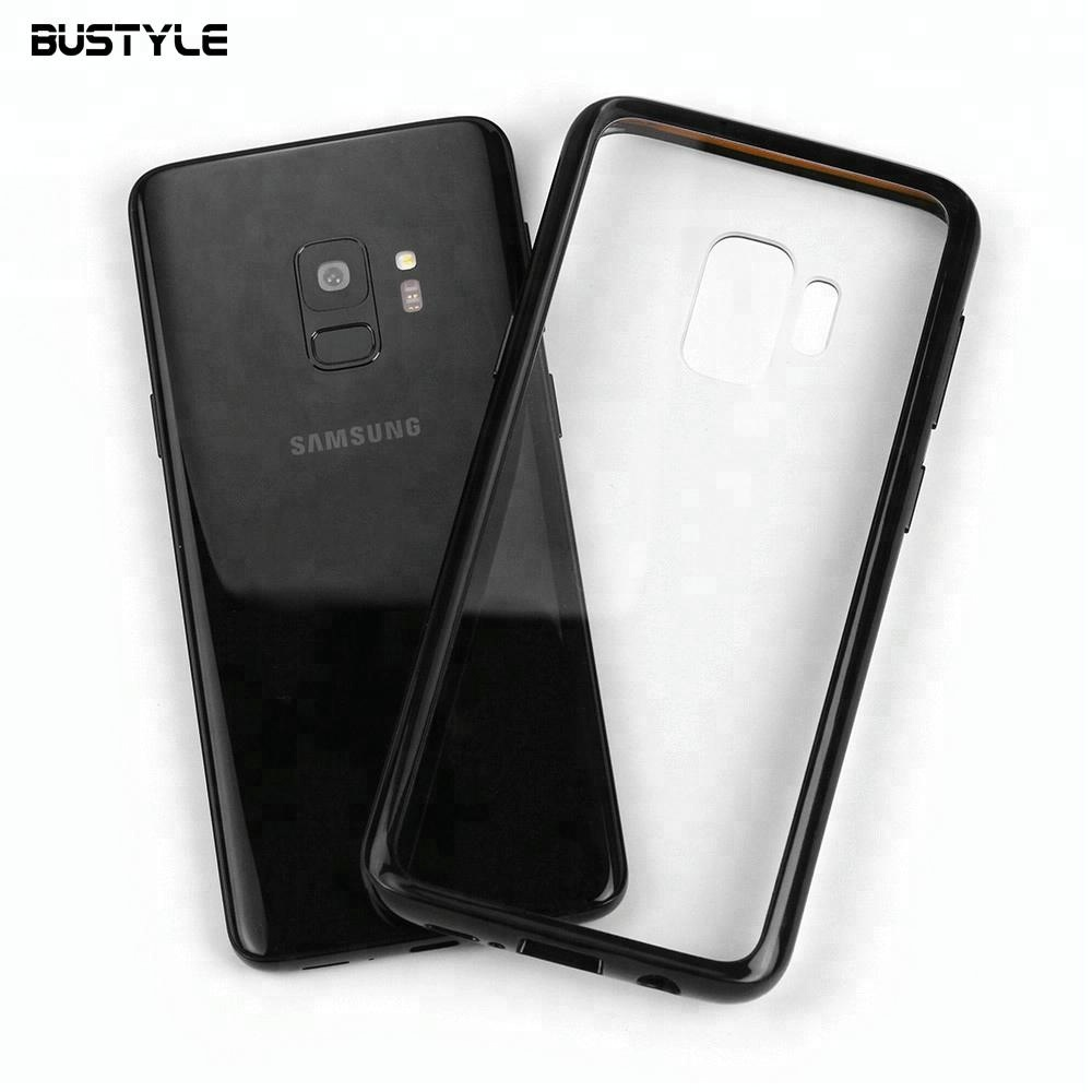 Hard PC+ soft TPU+ shock proof TPE 3 in 1 clear hard back cover case for samsung galaxy s9