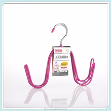 new design plastic PVC coated metal shoes hanger