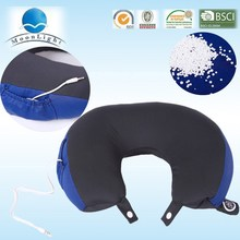 U-shape microbeads pillow with music,a great way to relax massage pillow