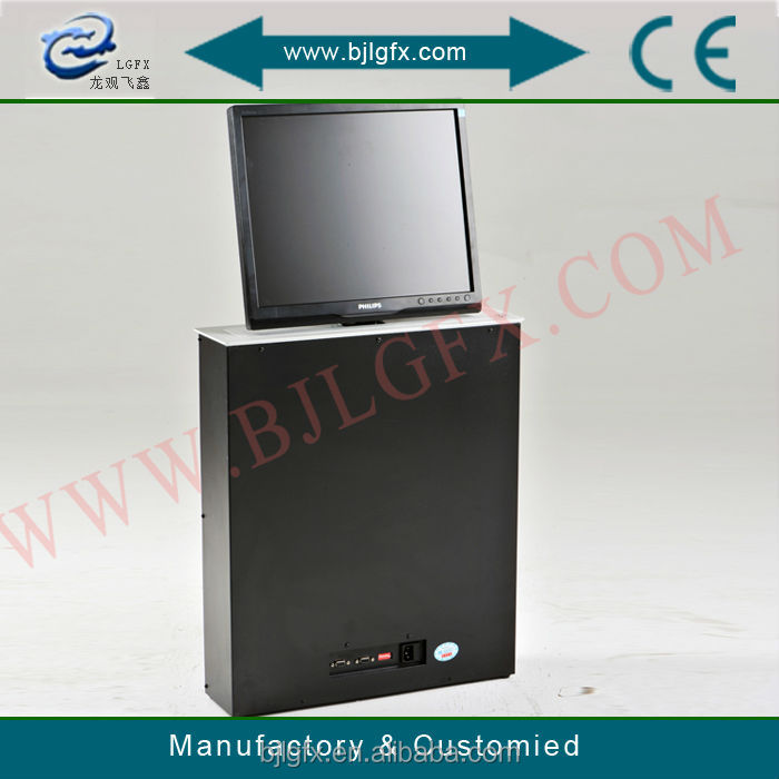 Pop up lcd lift monitor lift electric computer desk lift manufacture