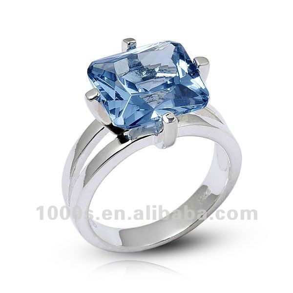 Blue Ocean Wedding Anniversary Ring jewellery