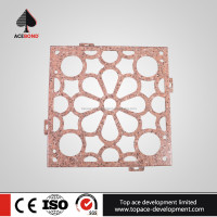 Light weight 4.0mm decorative wall panel carved wood used for reception Lobby