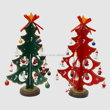 Christmas Decoration Table Wooden Christmas Tree Ornament For Xmas Eve Dinner
