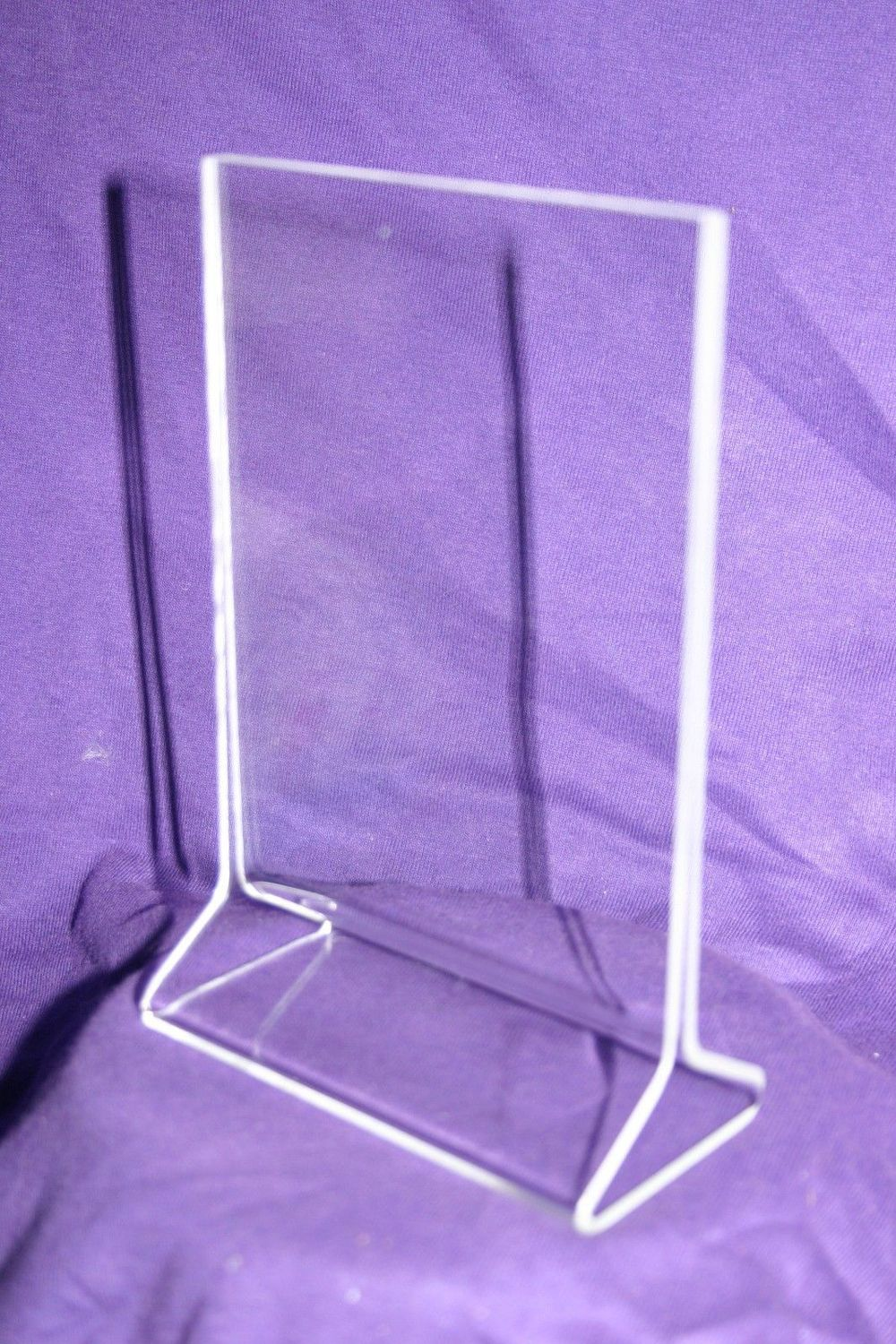 Clear vertical table top disply menu stand holder frame for Html vertical table