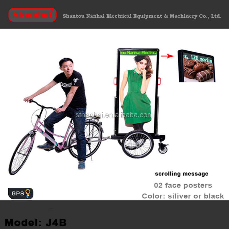 J1C-0002 walking board led Outdoor video backpack Billboard one sided signs mobile