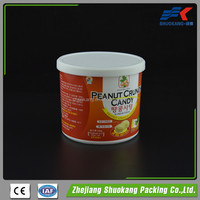 Wholesale PP wide mouth round plastic food container with lid candy packaging jar plastic storage box