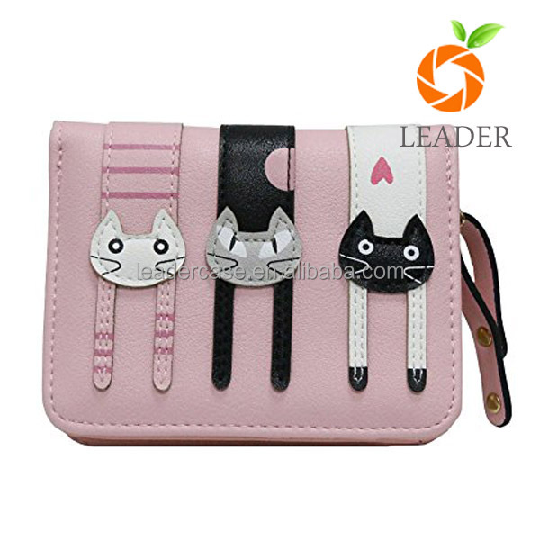 New Model Ladies Purses/Fashion Wholesale Cut Cat Printing wallet Woman